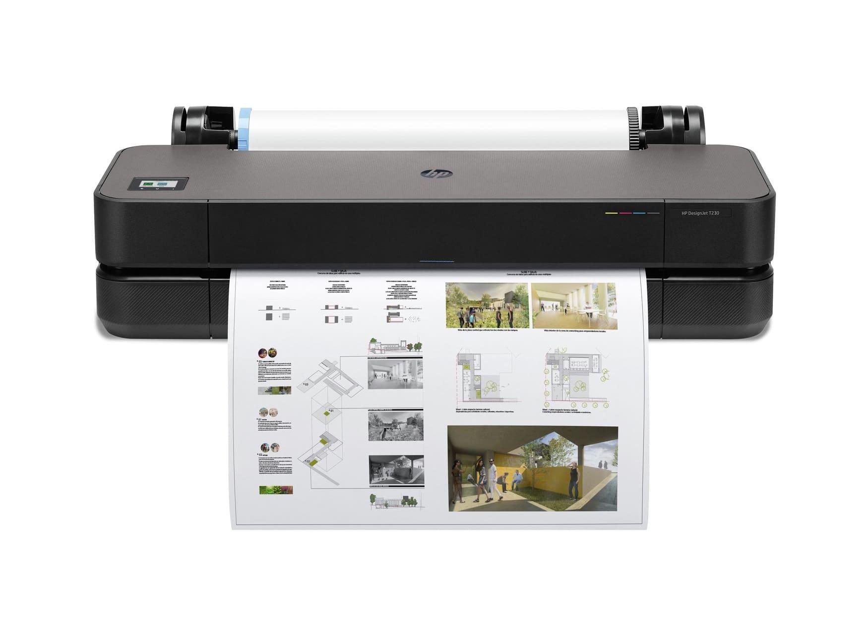 Impresora plotter HP DesignJet T250 de gran formato (hasta A1) de 24 pulgadas